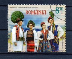 ++ RUMANIA / ROMANIA / ROUMANIE  Año 2013  Usado Emisión Conjunta Rumania - Polonia - 1948-.... Repúblicas