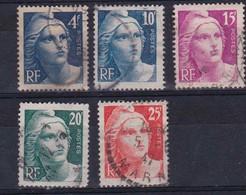 FRANCIA - 1945/1947 - Catalogo Yvert E Tellier N° 725 - 726 - 727 - 728 - 729 - Usati - Used Stamps
