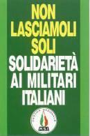 A 235  -  MSI, Movimento Sociale Italiano, Guerra Golfo Persico. - Partiti Politici & Elezioni