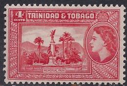 Trinidad & Tobago 1953 - 59 QE2 4ct Memorial Gardens MM SG 270 ( M1296 ) - Trinidad & Tobago (...-1961)