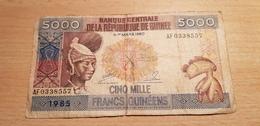 GUINEA 5000 FRANCS 1985 - Guinée