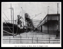1930  -  LE HAVRE  QUAI DE LA GARONNE  DEVANT LES HANGARS A COTON   3R012 - Old Paper