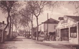 CPA (81) GUITALENS Avenue Du Pont Garage Pompe à Essence (2 Scans) - Francia