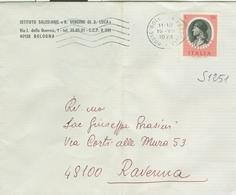 ARTISTI GIAMBELLINO £.50 (1251),ISOLATO TARIFFA LETTERA,1974, TIMBRO POSTE BOLOGNA,RAVENNA - 6. 1946-.. República