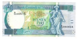Malta 5 Liri, L.1967, AUNC/UNC. - Malta