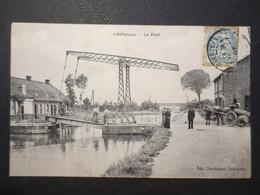 62 - Isbergues - CPA - Le Pont - Belle Animation - Ed , Duchateau , Isbergues - 1907 - TBE - - Isbergues