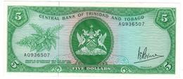 Trinidad & Tobago, 5 Dollars . P-31a, L.1964.  AUNC/UNC. - Trinidad & Tobago