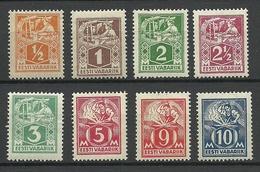 Estland Estonia 1922/25 Michel 32 - 39 A * Different Gum Types - Estonia