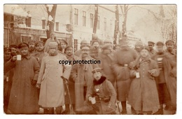 Militär Gruppenfoto, Beschrieben Willkoviszky, Vilkaviskis (?), Stempel Eydtkuhnen, Alte Foto Postkarte 1915 - Litauen
