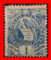 GUATEMALA (AMERICA DEL NORTE) SELLO AÑO 1886-87 EMBLEMA NACIONAL. LITOGRAFIADOS - Guatemala