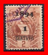 GUATEMALA (AMERICA DEL NORTE) SELLO AÑO 1894 EMBLEMA NACIONAL. LITOGRAFIADOS - Guatemala