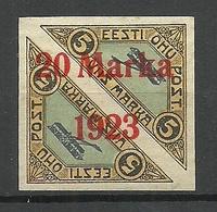 Estonia Estland 1923 Michel 44 B B (Ziegelrot) 1,75 Mm * - Estland
