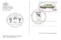 ITALIA - 1986 TORINO 80° Fondazione TORINO CALCIO (toro) + Mostra Filatelica (calcio, Pallavolo, Discobolo) Su Cart.ill. - Club Mitici