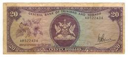 Trinidad & Tobago, 20 Dollars . P-33, L.1964. Crisp  F+/VF - Trinidad & Tobago