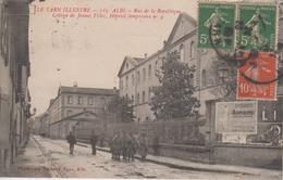 CPA Albi - Rue De La République - Collège De Jeunes Filles - Hôpital Temporaire N° 9 (avec Animation) - Albi
