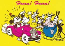 WALT DISNEY  Mickey Mouse Minni By Car Modern Postcard - Illustratori & Fotografie