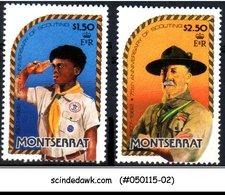 MONTSERRAT - 1982 75th ANNIVERSARY OF THE BOY SCOUT MOVEMENT 2V - MINT NH - Montserrat