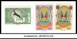 LIBYA - 1966 GIRL SCOUT & BOY SCOUT - 3V - MINT NH - Libyen