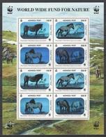 Mongolia 2000 Mongolei 3126klb-3129klb Worldwide Conservation:Przewalski Horse /Weltweiter Naturschutz:Przewalski-Pferd - Pferde