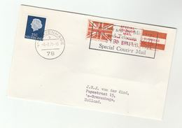 1971 COVER NETHERLANDS Stamps GB POSTAL STRIKE COURIER MAiL 2/- LABEL Great Britain - Cinderellas