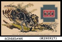 U.S. MILITARY HISTORIC STAMP COLLECTION-SURRENDER AT YORKTOWN- PANEL - Maximumkarten (MC)