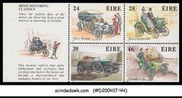 IRELAND - 1989 IRISH MOTORING CLASSICS / CARS - BOOKLET PANE - MINT NH - Autos