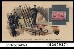 U.S. MILITARY HISTORIC STAMP COLLECTION-DAVID G FARRAGUT & DAVID D PORTER-PANEL - Maximumkarten (MC)