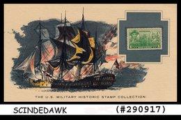 U.S. MILITARY HISTORIC STAMP COLLECTION-JOHN PAUL JONES VICTORY- PANEL - Maximumkarten (MC)