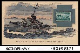 U.S. MILITARY HISTORIC STAMP COLLECTION- COAST GUARD IN WORLD WAR II-PANEL - Maximumkarten (MC)