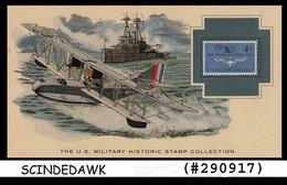 U.S. MILITARY HISTORIC STAMP COLLECTION -NAVAL AVIATION - PANEL - Maximumkarten (MC)