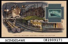 U.S. MILITARY HISTORIC STAMP COLLECTION -MERCHANT MARINE IN WORLD WAR II -PANEL - Maximumkarten (MC)