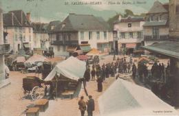 CPA Salies-de-Béarn - Place Du Bayâa - Le Marché (belle Animation) - Salies De Bearn