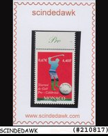 MONACO - 2000 Celebrity Golf Tournament, Monte Carlo SG2459 1V MNH - Ohne Zuordnung