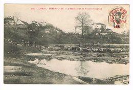 CPA Viêt-Nam.Tonkin.Thai-Nguyen.Résidence Et Rives Du Song-Cau.  (F.049) - Vietnam