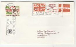 1971 COVER DENMARK Stamps ARHUSC SLOGAN Pmk GB POSTAL STRIKE COURIER MAiL LABEL Great Britain - Denmark