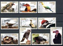 Zaire, 1982, Birds, Animals, Wildlife, MNH, Michel 792-801 - Autres
