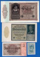 All  4  Billets - 1918-1933: Weimarer Republik