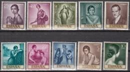 SPANIEN  1536-1545, Postfrisch **, Mint, Gemälde (IX): Julio Romero De Torres; Tag Der Briefmarke 1965 - 1931-Aujourd'hui: II. République - ....Juan Carlos I