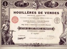 Titre Ancien - Houillères De Vendes Société Anonyme - Titre De 1925 - Déco - Mines