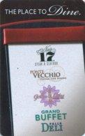Fallsview-Casino-Resort---The-Place-to-Dine[2186]== Hotel Room Keycard, Room Keys, Hotelkarte, Clef De Hotel -   2186 - Cartes D'hotel