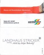 Landhaus Stricker Sylt----2145== Hotel Room Keycard, Room Keys, Hotelkarte, Clef De Hotel -   2145 - Cartes D'hotel