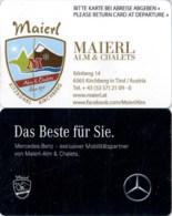 Maierl Alm & Chalets Kirchberg In Tirol---2119== Hotel Room Keycard, Room Keys, Hotelkarte, Clef De Hotel -   2119 - Cartes D'hotel