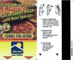 Microtel - Hungry Howie's Pizza (586) 776-9700----2150== Hotel Room Keycard, Room Keys, Hotelkarte, Clef De Hotel - - Cartes D'hotel