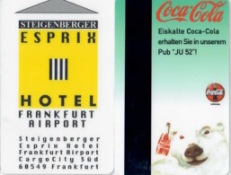 Steigenberger Esprix Frankfurt Airport---2136== Hotel Room Keycard, Room Keys, Hotelkarte, Clef De Hotel - 2136 - Cartes D'hotel