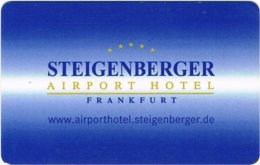 Steigenberger-Airport-Hotel-Frankfurt[2140]== Hotel Room Keycard, Room Keys, Hotelkarte, Clef De Hotel - 2140 - Cartes D'hotel