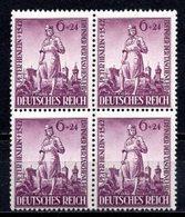 1942 DEUTSCHES REICH PETER HENLEN MICHEL:819 BLOCK OF 4 MNH ** - Deutschland