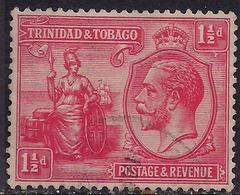 Trinidad & Tobago 1922 - 28 KGV 1 1/2d Bright Rose SG 220 ( M1280 ) - Trinidad & Tobago (...-1961)