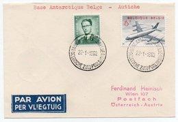 BELGIAN ANTARCTIC BASE / BASE ANTARTIQUE BELGE - COVER TO AUSTRIA 1960 / THEMATIC STAMP-SABENA AIRPLANE/AVION - Francobolli