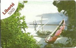 Recharge Liberté     5000fcfp  Pirogue à Balanciers - New Caledonia