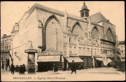 BRUXELLES :  Eglise St Nicolas - Places, Squares